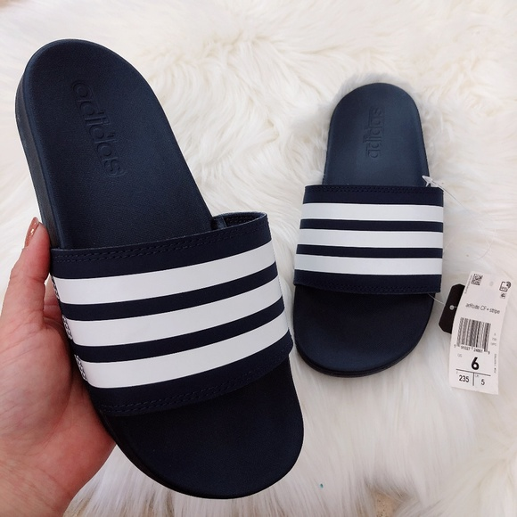 7ebaa2961fd7 NWT Adidas Women s adilette CF + stripe